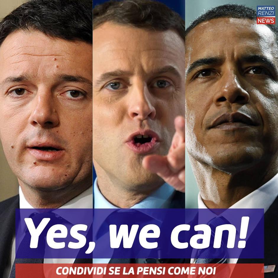 Renzi ritorna e già si crede Macron o Obama